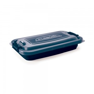 Imagem do produto - Pote de Plástico Retangular 320 ml com Travas Clic e Trave