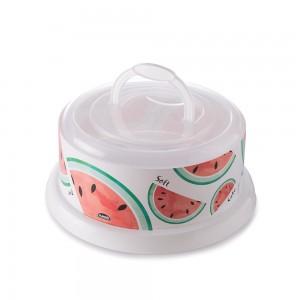 Imagem do produto - Boleira de Plástico Redonda com Tampa e Alça Melancia