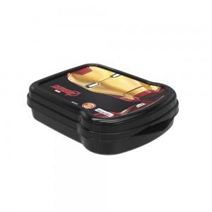 Imagem do produto - Sanduicheira de Plástico com Tampa Fixa Avengers Homem de Ferro