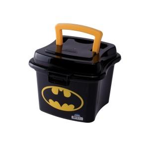 Imagem do produto - Caixa de Plástico 1 L com Tampa Fixa, Trava e Alça Batman