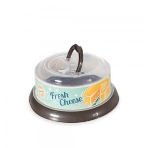 Imagem do produto - Queijeira de Plástico Redonda com Tampa Rosca e Alça Retrô