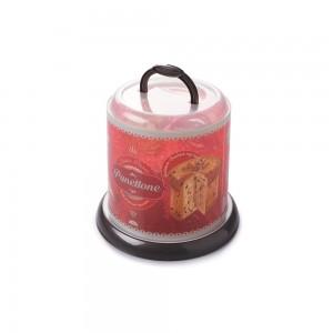 Imagem do produto - Porta Panetone de Plástico com Tampa Rosca e Alça Café da Manhã Retrô