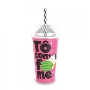 Imagem do produto - Copo Shake de Plástico 500 ml com Tampa e Canudo Mônica Toy Magali