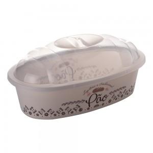 Imagem do produto - Porta Pão de Plástico com Tampa Café da Manhã Retrô