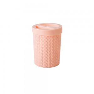 Imagem do produto - Porta Cotonete de Plástico Trama Rosa