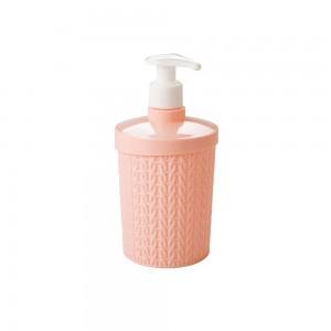Imagem do produto - Porta Sabonete Líquido de Plástico 360 ml Trama Rosa