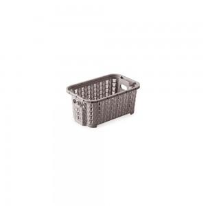 Imagem do produto - Cesta de Plástico Retangular Organizadora 460 ml Empilhável Trama