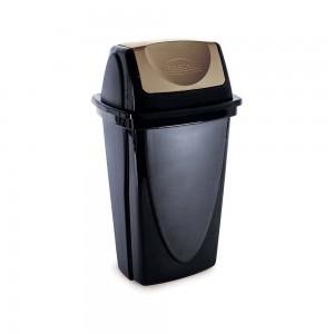 Imagem do produto - Lixeira de Plástico 9 L com Tampa Basculante Ecoblack