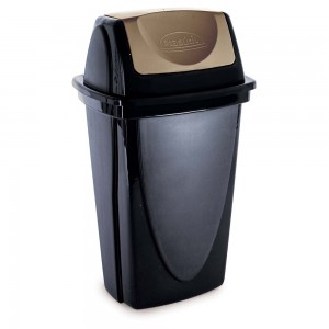 Imagem do produto - Lixeira de Plástico 14 L com Tampa Basculante Ecoblack