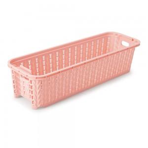 Imagem do produto - Cesta de Plástico Retangular Organizadora 920 ml Empilhável Trama