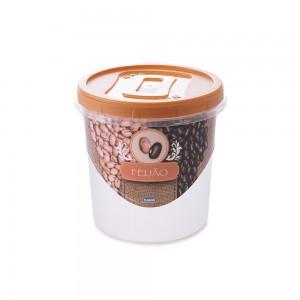 Imagem do produto - Pote de Plástico Redondo 1,8 L para Feijão Mantimentos Rosca
