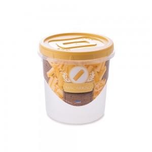 Imagem do produto - Pote de Plástico Redondo 1,8 L para Macarrão Mantimentos Rosca