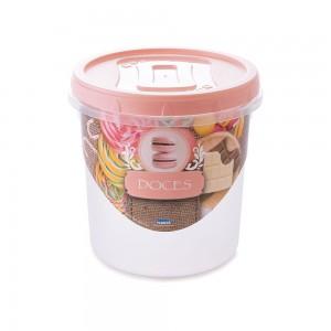 Imagem do produto - Pote de Plástico Redondo 1,8 L para Doces Mantimentos Rosca