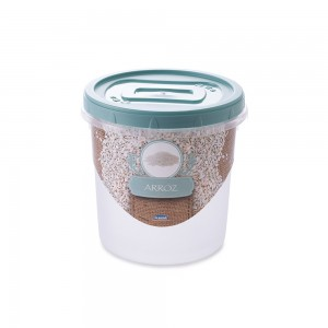 Imagem do produto - Pote de Plástico Redondo 1,8 L para Arroz Mantimentos Rosca