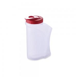 Imagem do produto - Garrafa de Plástico 1,3 L com Fechamento Rosca e Tampa Articulável Vermelho