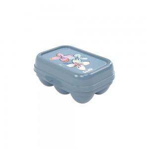 Imagem do produto - Porta Ovos de Plástico com Tampa Fixa Fazenda 6 Unidades
