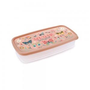 Imagem do produto - Pote de Plástico Retangular 1,43 L Clic Borboleta