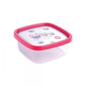 Imagem do produto - Pote de Plástico Quadrado 580 ml Clic Coruja