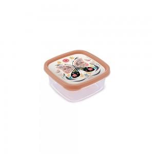 Imagem do produto - Pote de Plástico Quadrado 580 ml Clic Borboleta