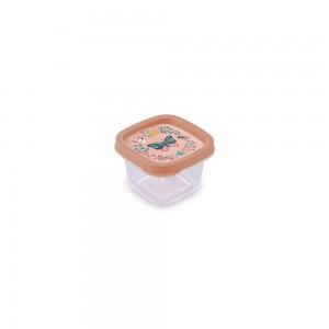 Imagem do produto - Pote de Plástico Quadrado 200 ml Clic Borboleta