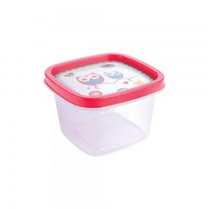 Imagem do produto - Pote de Plástico Quadrado 500 ml Clic Coruja