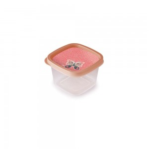 Imagem do produto - Pote de Plástico Quadrado 500 ml Clic Borboleta