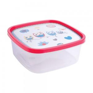 Imagem do produto - Pote de Plástico Quadrado 1,6 L Clic Coruja