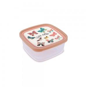 Imagem do produto - Pote de Plástico Quadrado 1,6 L Clic Borboleta