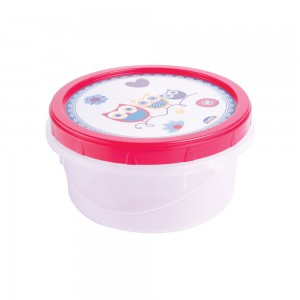 Imagem do produto - Pote de Plástico Redondo 900 ml Rosca Coruja