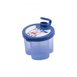 Imagem do produto - Dosador de Leite em Pó de Plástico com 3 Compartimentos Tampa Encaixável e Bico Direcionador Carrinhos