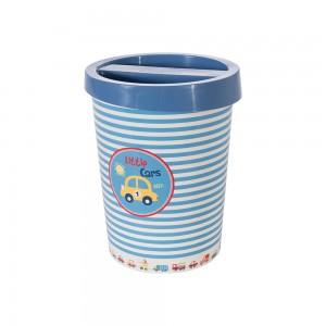 Imagem do produto - Lixeira de Plástico com Tampa Carrinhos