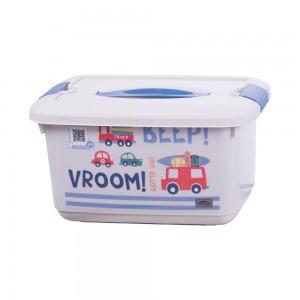 Imagem do produto - Caixa de Plástico 5,2 L com Alça e Trava Carrinhos