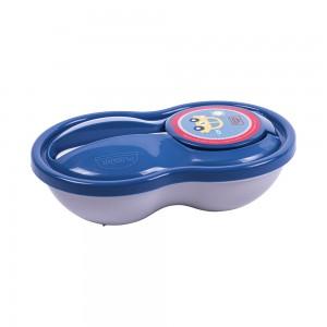 Imagem do produto - Pote de Plástico para Papinha 320 ml com Colher e Tampa Protetora Carrinhos