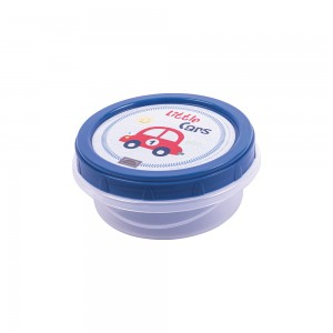 Imagem do produto - Pote de Plástico Redondo 390 ml Rosca Carrinhos