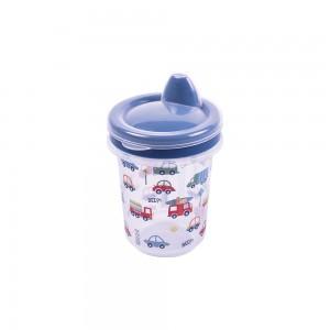 Imagem do produto - Copo de Plástico 330 ml para Transição com Fechamento Rosca Carrinhos