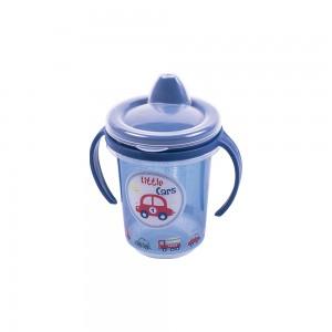 Imagem do produto - Caneca de Plástico 330 ml para Transição com Alça Removível e Fechamento Rosca Carrinhos