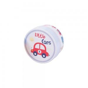 Imagem do produto - Caixa de Plástico Redonda 630 ml com Tampa Encaixável Carrinhos