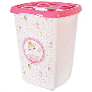 Imagem do produto - Cesto de Plástico para Roupas 38 L com Tampa Bailarina