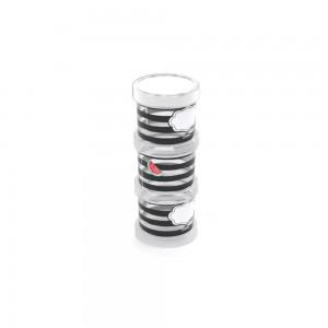 Imagem do produto - Conjunto Organizador de Plástico Empilhável com Tampa Rosca Melancia 3 Unidades