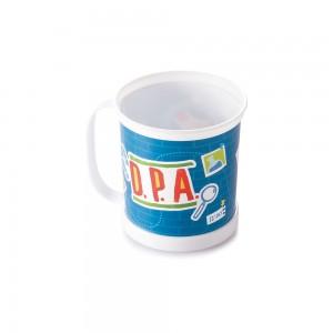 Imagem do produto - Caneca de Plástico 360 ml Clássica DPA Detetives do Pédio Azul