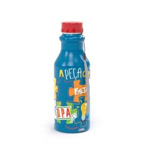 Imagem do produto - Garrafa de Plástico 500 ml com Tampa Rosca Retro Dpa, Detetives do Prédio Azul