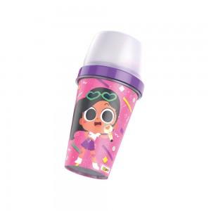 Imagem do produto - Mini Shakeira de Plástico 320 ml com Misturador, Fechamento e Sobretampa Articulável Anittinha