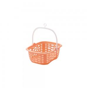 Imagem do produto - Cesto de Plástico para Prendedor com Alça Rosa