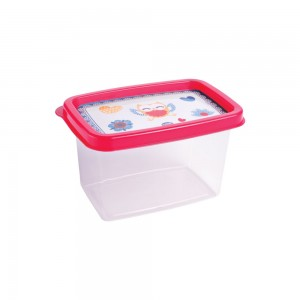 Imagem do produto - Pote de Plástico Retangular 430 ml Clic Coruja
