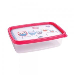 Imagem do produto - Pote de Plástico Retangular 620 ml Clic Coruja