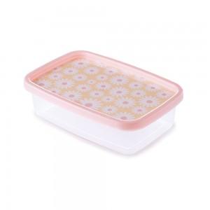 Imagem do produto - Pote de Plástico Retangular 620 ml Clic Camomila