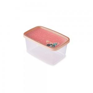 Imagem do produto - Pote de Plástico Retangular 1,2 L Clic Borboleta