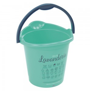 Imagem do produto - Balde de Plástico 12 L com Alça Lavanderia  Lettering