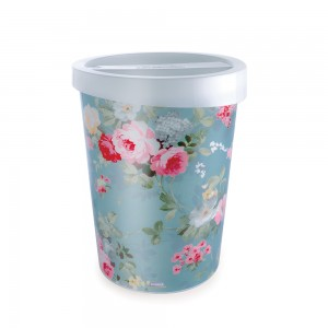 Imagem do produto - Lixeira de Plástico 5,5 L com Tampa Floral