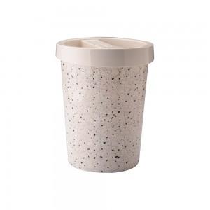 Imagem do produto - Lixeira de Plástico 5,5 L com Tampa - Granilite
